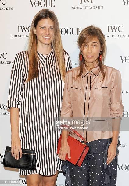 Carolina Castiglioni and Consuelo Castiglioni attend Vogue and IWC present 'Peter Lindbergh's Portofino' at 10 Corso Como on May 12, 2011 in Milan,...