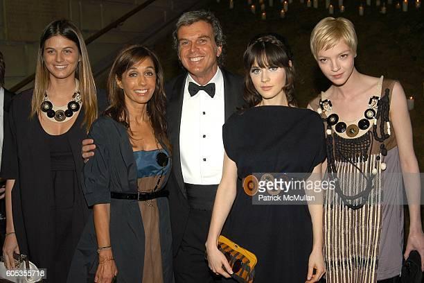 Carolina Castiglioni, Consuelo Castiglioni, Gianni Castiglioni, Zooey Deschanel and Maria Carla Buscano attend The Metropolitan Museum of Art Costume...