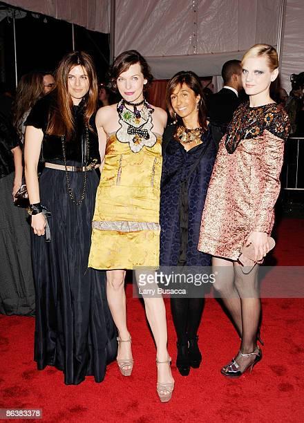 """Carolina Castiglioni, Milla Jovovich, Consuelo Castiglioni and Guinevere Van Seenus attend """"The Model as Muse: Embodying Fashion"""" Costume Institute..."""