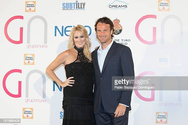 Carolina Cerezuela and Carlos Moya attend at the Nexo Award in the Madrid Shooting Club on September 13 2012 in Madrid Spain