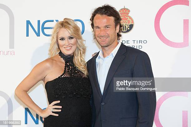 Carolina Cerezuela and Carlos Moya attend the Nexo Award at Madrid Shooting Club on September 13 2012 in Madrid Spain