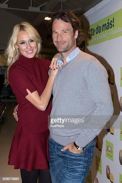 Carolina Cerezuela and her husband Carlos Moya present Zespri products on November 26 2015 in Madrid Spain