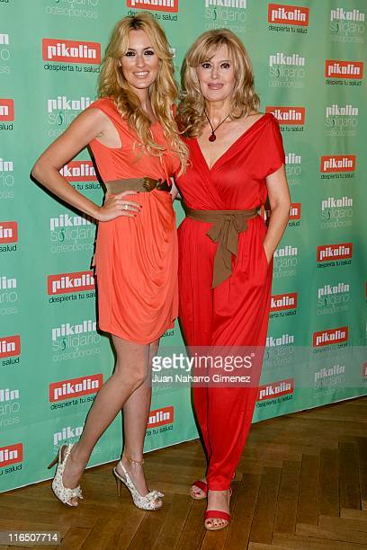 Carolina Cerezuela and her mother Maria Jose Gil attend 'Pikolin Charity Matress' presentation at Santo Mauro on June 16 2011 in Madrid Spain