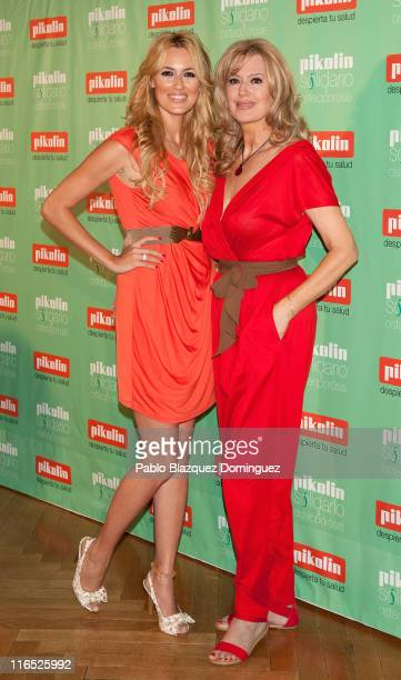 Carolina Cerezuela and her mother Maria Jose Gil attend 'Pikolin Charity Matress' presentation at Santo Mauro Hotel on June 16 2011 in Madrid Spain
