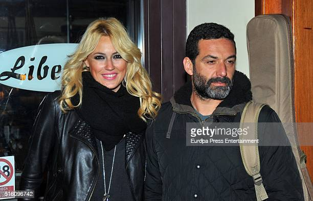 Carolina Cerezuela and Jaume Anglada are seen on March 16 2016 in Madrid Spain