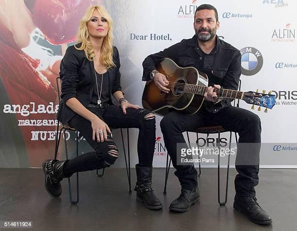 Carolina Cerezuela and Jaume Anglada present 'Manzana de caramelo' new album at the dear Hotel on March 10 2016 in Madrid Spain