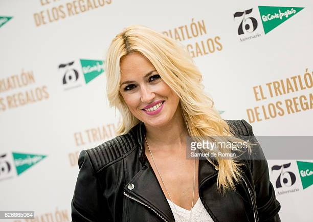 Carolina Cerezuela attends an event at the Triathlon of the Gifts store to celebrate the 75th Anniverasy of the El Corte Ingles department store on...
