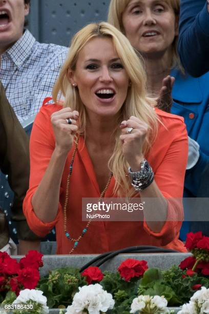 Carolina Cerezuela Celebrity Sightings attends the final Rafa Nadal at the Mutua Madrid Open tennis tournament held at the Magic Box in Madrid Spain...