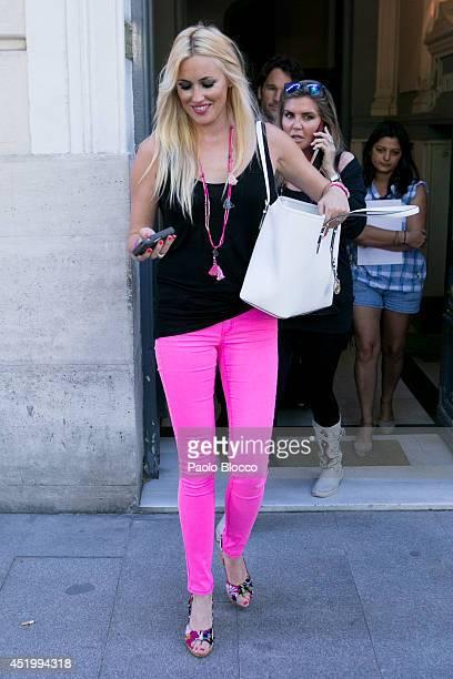 Carolina Cerezuela is seen on July 10 2014 in Madrid Spain