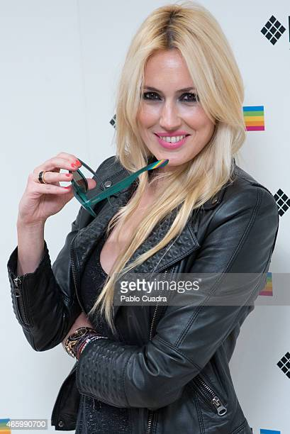 Carolina Cerezuela poses during a photocall to present new Polaroid Children Sunglasses on March 12 2015 in Madrid Spain