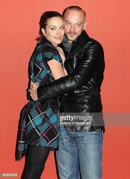 Carolina Crescentini and Filippo Nigro attend 'Oggi Sposi' Photocall at Cinema Apollo on October 23 2009 in Milan Italy