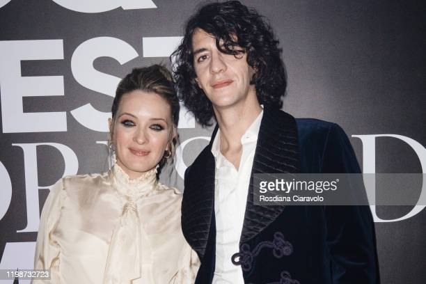 Carolina Crescentini and Francesco Motta attend the GQ Best Dressed Man 2020 on January 10 2020 in Milan Italy