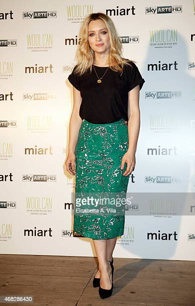 Carolina Crescentini attends 'I'm Art Party For Sky Arte' at Cohouse Pigneto on April 1 2015 in Rome Italy