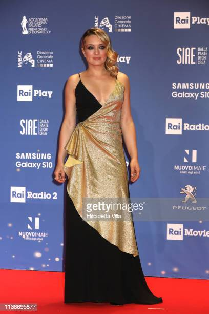Carolina Crescentini attends the 64 David Di Donatello awards on March 27 2019 in Rome Italy