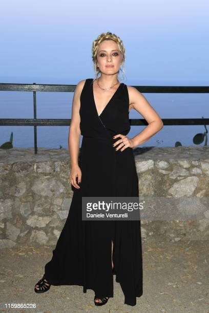Carolina Crescentini attends the 65th Taormina Film Fest Cocktail at Teatro Antico on July 03 2019 in Taormina Italy