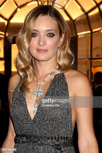 Carolina Crescentini attends the Bvlgari Tribute To Spanish Steps Opening Event on September 22 2016 in Rome Italy
