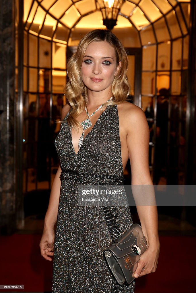 Carolina Crescentini attends the Bvlgari Tribute To Spanish Steps Opening Event on September 22, 2016 in Rome, Italy.