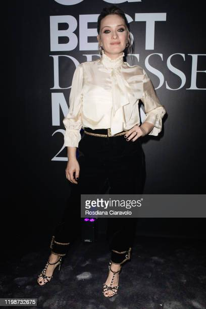 Carolina Crescentini attends the GQ Best Dressed Man 2020 on January 10 2020 in Milan Italy