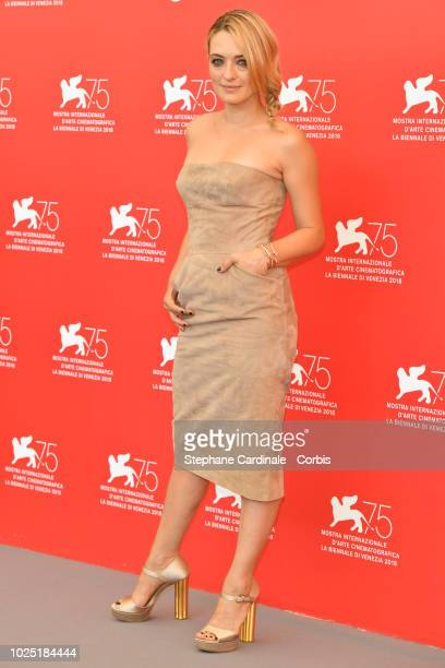 Carolina Crescentini attends the Jury photocall during the 75th Venice Film Festival at Sala Casino on August 29 2018 in Venice Italy