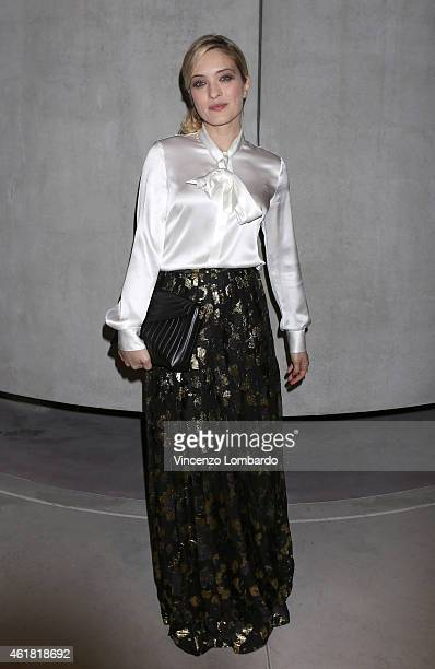 Carolina Crescentini attends the MAX E HELENE - TV Movie Press Conference on January 20, 2015 in Milan, Italy.