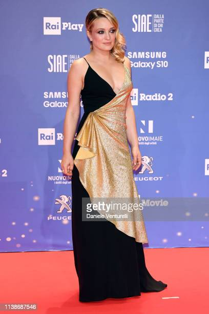Carolina Crescentini walks a red carpet ahead of the 64 David Di Donatello awards ceremony Red Carpet on March 27 2019 in Rome Italy