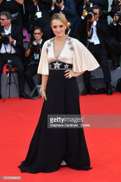 Carolina Crescentini walks the red carpet ahead of the opening ceremony and the 'First Man' screening during the 75th Venice Film Festival at Sala...