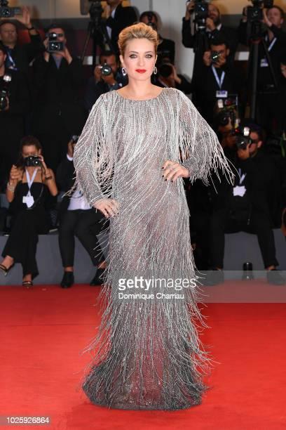 Carolina Crescentini walks the red carpet ahead of the 'Suspiria' screening during the 75th Venice Film Festival at Sala Grande on September 1 2018...