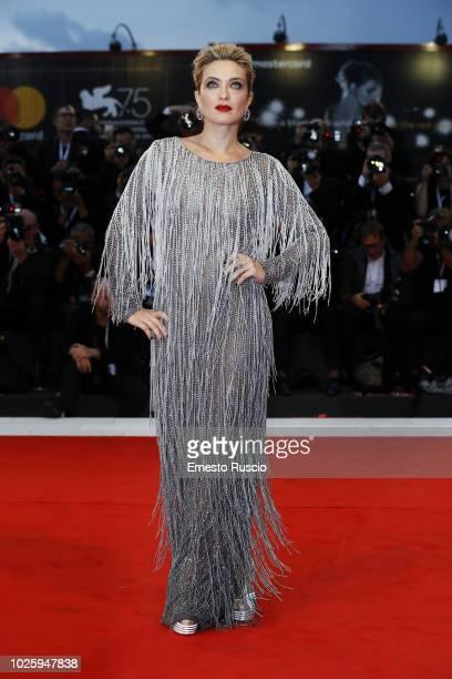 Carolina Crescentini walks the red carpet ahead of the 'Suspiria' screening during the 75th Venice Film Festival at Sala Grande on September 1, 2018...