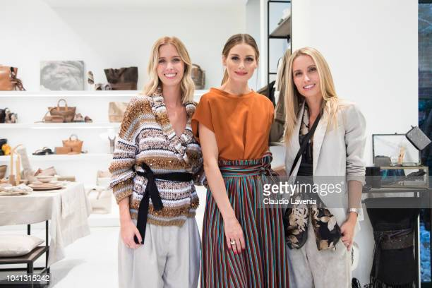 Carolina Cucinelli Olivia Palermo and Camilla Cucinelli are seen at the Brunello Cucinelli presentation during Milan Fashion Week Spring/Summer 2019...