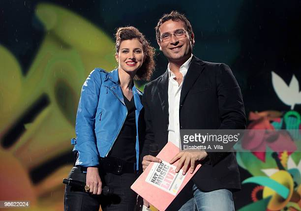 Carolina Di Domenico and Alessio Viola appear on the Nat Geo Music Live Earth Day 2010 on April 22 2010 in Rome Italy
