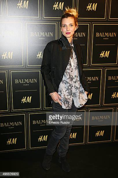 Carolina Di Domenico attends Balmain For HM Collection Preview Photocall on November 3 2015 in Rome Italy