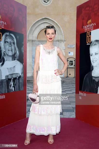Carolina Di Domenico attends the 65th Taormina Film Fest Red Carpet at on July 01, 2019 in Taormina, Italy.