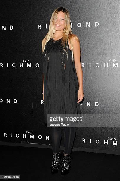 Carolina Fachinetti attends the John Richmond Spring/Summer 2013 fashion show as part of Milan Womenswear Fashion Week on September 19 2012 in Milan...