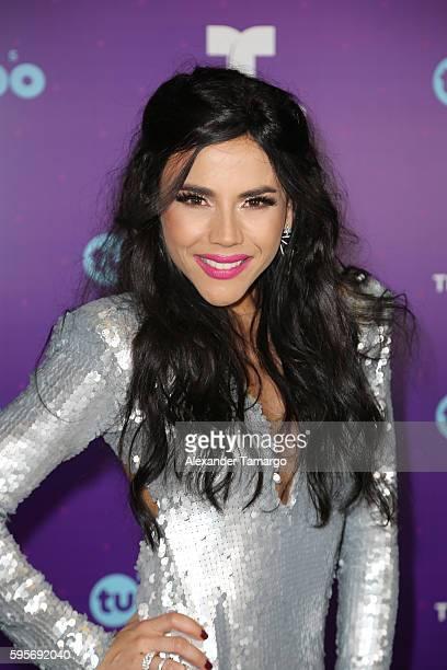 "Carolina Gaitan arrives at Telemundo's Premios Tu Mundo ""Your World"" Awards at American Airlines Arena on August 25, 2016 in Miami, Florida."