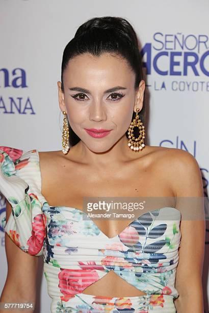 Carolina Gaitan is seen attending Telemundo's 'MARTRES' event at the Conrad Hotel on July 19, 2016 in Miami, Florida.