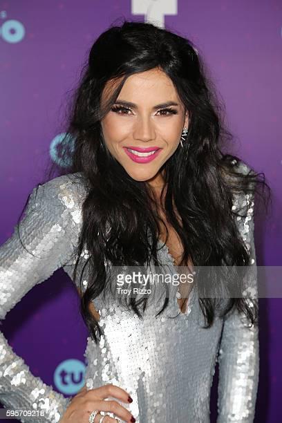 Carolina Gaitan poses backstage at Telemundo's Premios Tu Mundo 'Your World' Awards at American Airlines Arena on August 25, 2016 in Miami, Florida.