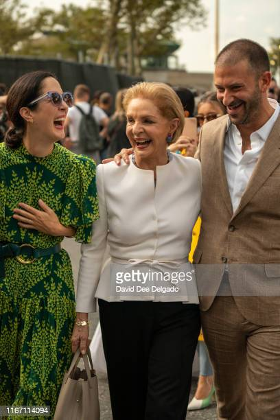 Carolina Herrera after her show during New York Fashion Week at the Garden of the Battery on September 9, 2019 in New York City.