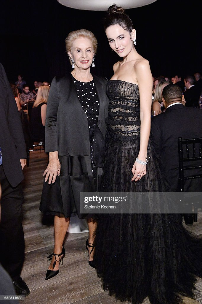 Carolina Herrera and Camilla Belle attend PSLA partners with Carolina Herrera for Winter Gala on January 26, 2017 in Beverly Hills, California.