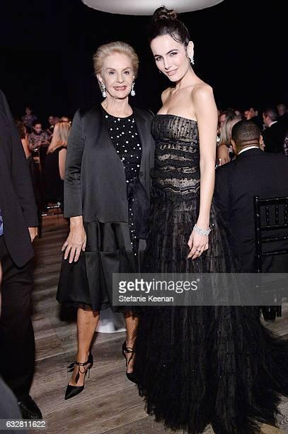 Carolina Herrera and Camilla Belle attend PSLA partners with Carolina Herrera for Winter Gala on January 26 2017 in Beverly Hills California