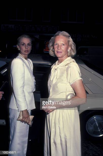Carolina Herrera and CZ Guest during Party For Diana Vreeland's Autobiography 'DV' at Mortimer's Restaurant in New York City New York United States