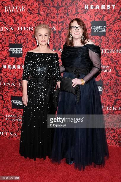 Carolina Herrera and Harper's Bazaar editorinchief Glenda Bailey attend 'An Evening Honoring Carolina Herrera' at Alice Tully Hall at Lincoln Center...
