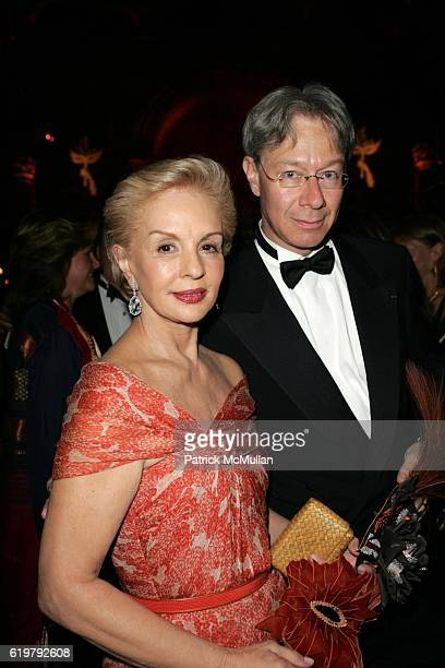 Carolina Herrera and Julian Zugazagoitia attend EL MUSEO'S GALA 2007 A MASKED BALL at Cipriani's 42nd St on May 24 2007 in New York City