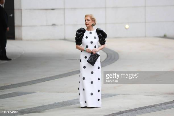 Carolina Herrera arrives for the 2018 CFDA Fashion Awards at Brooklyn Museum on June 4 2018 in New York City