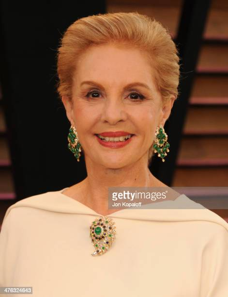 Carolina Herrera attends the 2014 Vanity Fair Oscar Party hosted by Graydon Carter on March 2 2014 in West Hollywood California