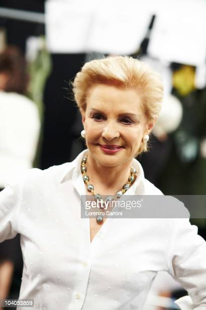 Carolina Herrera attends the Carolina Herrera Spring 2011 fashion show during Mercedes-Benz Fashion Week at The Theater at Lincoln Center on...