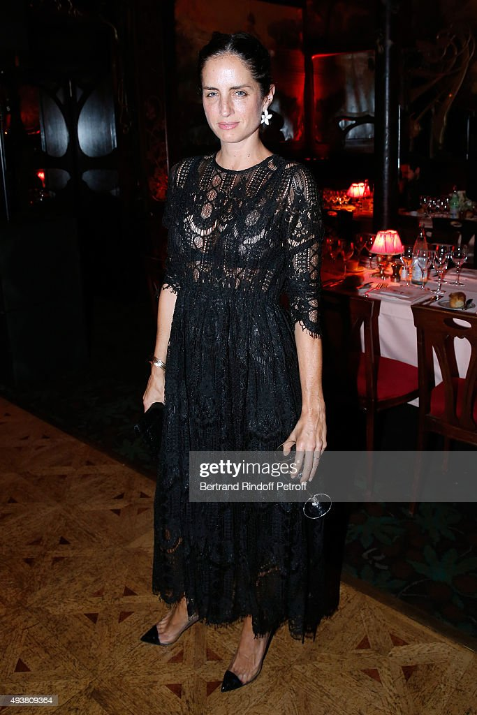 Carolina Herrera attends the Dinner in honor of the Artist Adrian Ghenie organized by Thaddaeus Ropac at Maxim's on October 22, 2015 in Paris, France.