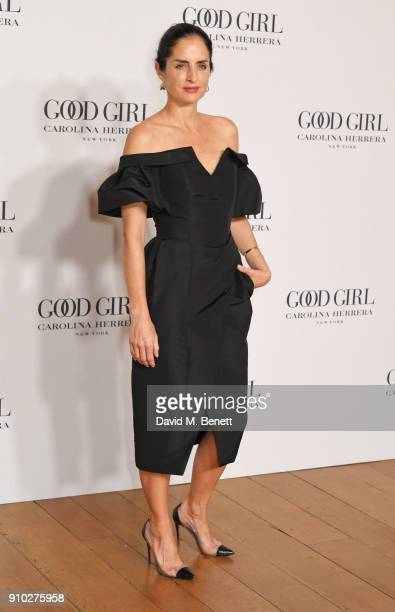 Carolina Herrera de Baez attends the launch of Carolina Herrera's new fragrance 'Good Girl' with campaign face Karlie Kloss at One Horse Guards on...