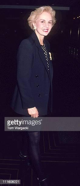 Carolina Herrera during Carolina Herrera Sighting April 20 1991 at Radio City Music Hall in New York City United States
