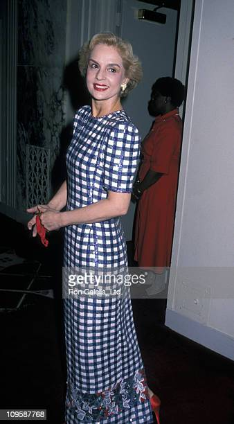 Carolina Herrera during Fashion Institute of Technology Dinner Gala Honoring Sak's 5th Avenue June 14 1990 at Waldorf Hotel in New York City New York...