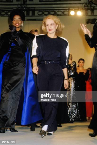 Carolina Herrera during New York Fashion Week circa 1986 in New York.